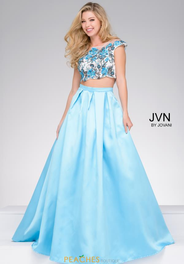 JVN by Jovani Two Piece Satin Dress JVN48713