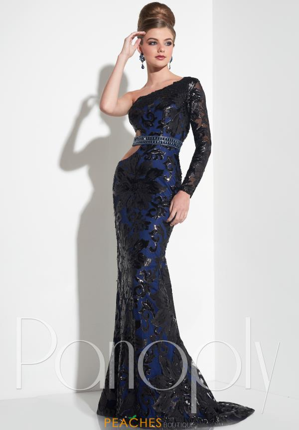 Panoply One Sleeved Fitted Dress 14847