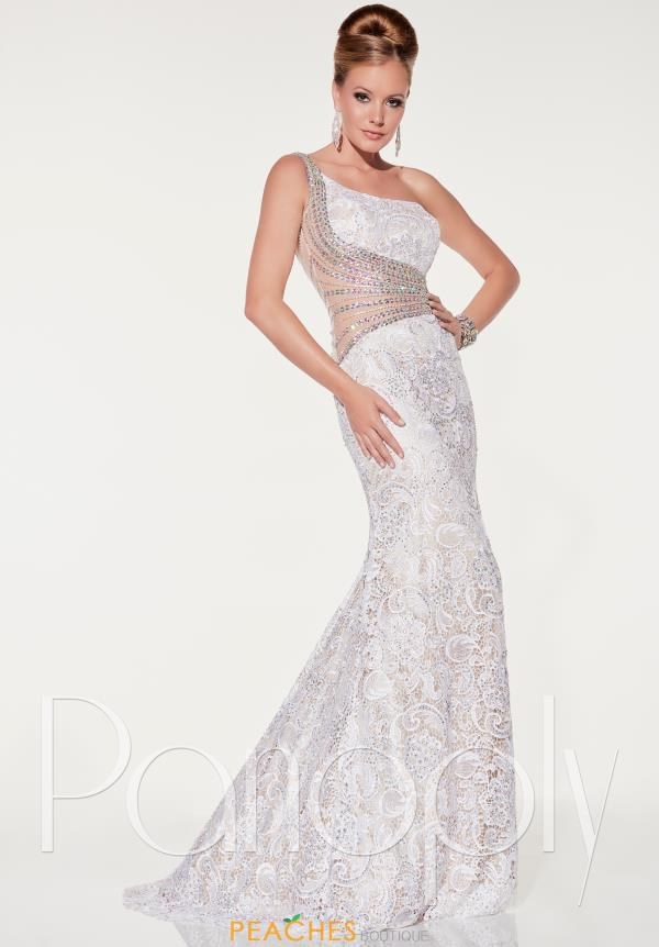 Panoply One Shoulder Beaded Dress 14851
