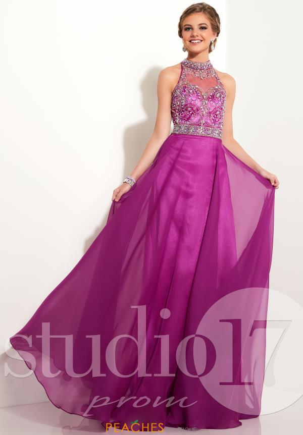 Studio 17 Long Chiffon Dress 12607
