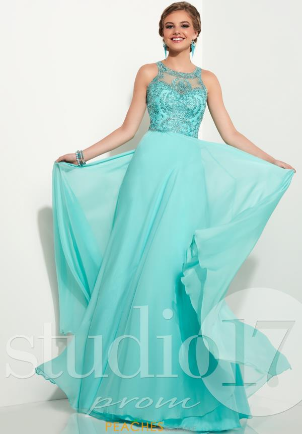 Studio 17 Long Chiffon Dress 12612