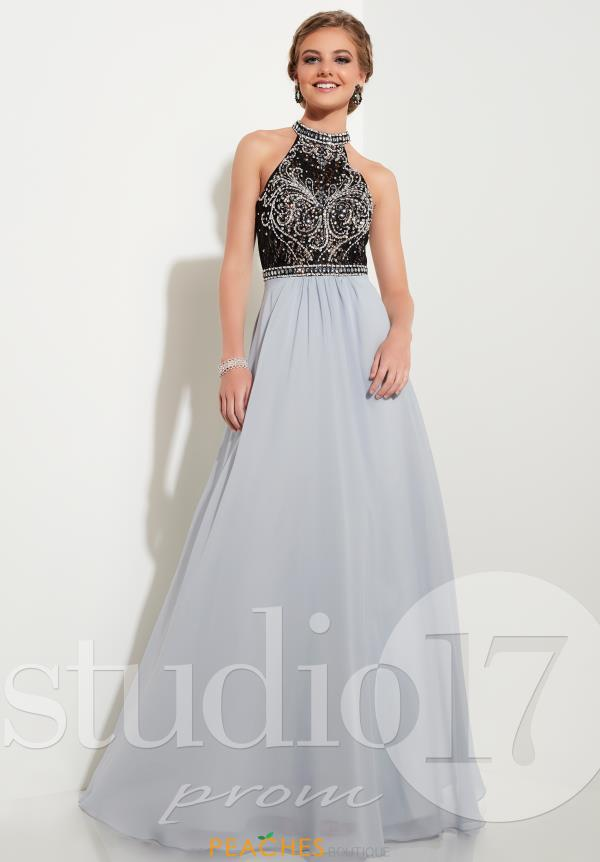 Beaded Open Back Studio 17 Dress 12619