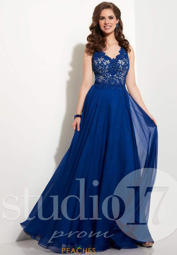 Studio 17 Long V Neck Dress 12626