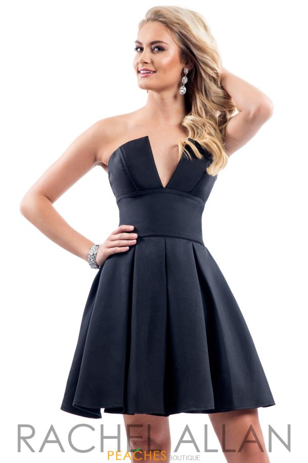 Rachel Allan Short Strapless Dress L1038