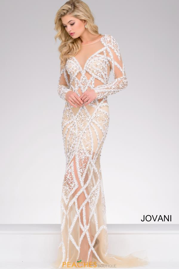 Jovani Fitted Beaded Dress 32202
