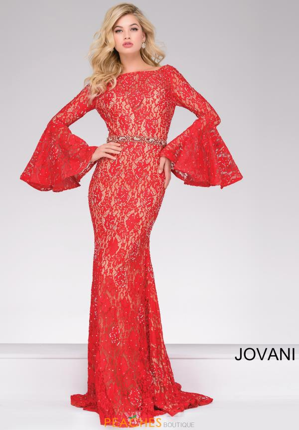 Jovani Fitted Beaded Dress 35160
