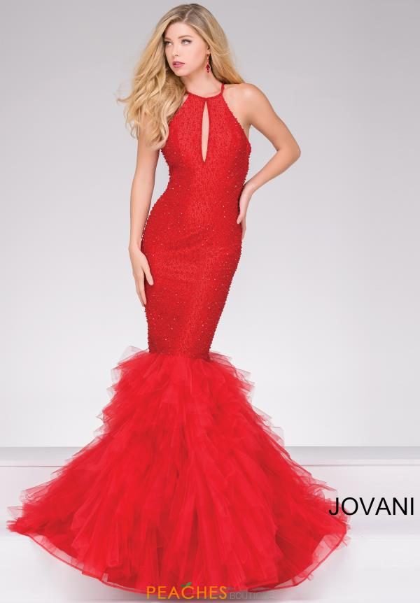 Jovani Mermaid Tulle Dress 37473
