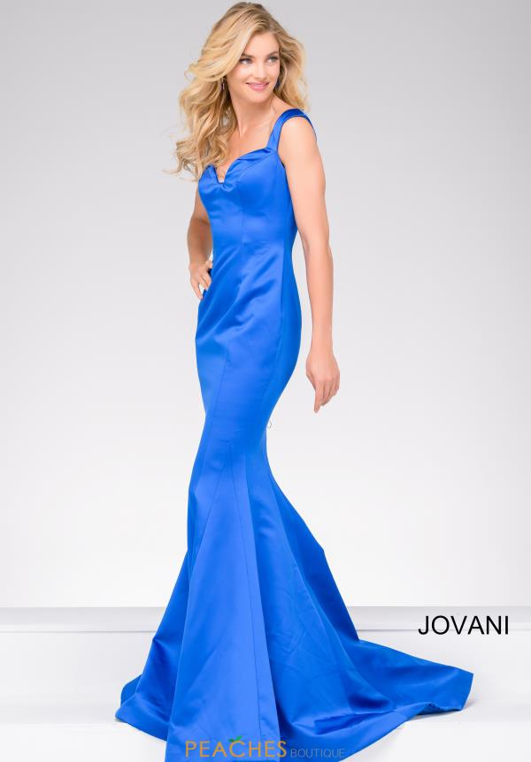 Jovani Mermaid Satin Dress 40720