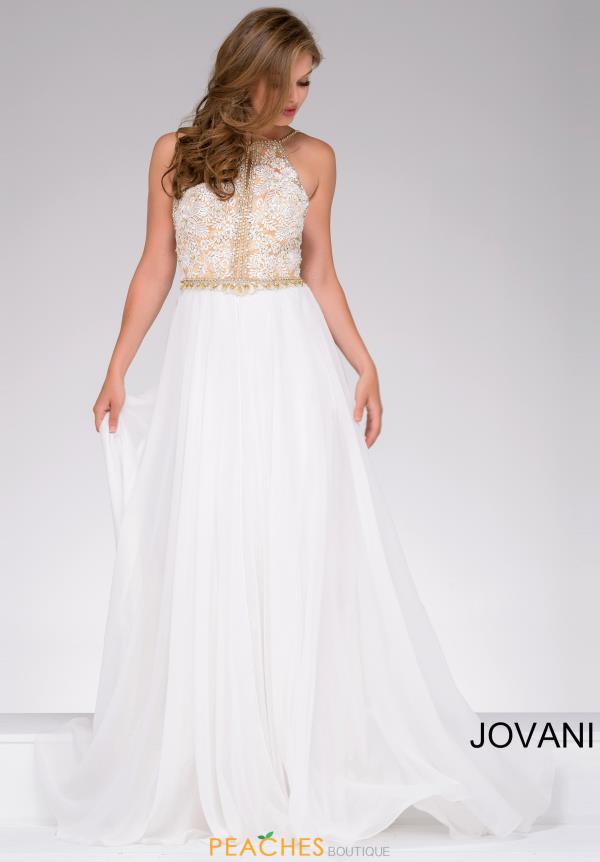 Jovani A Line Beaded Dress 41591