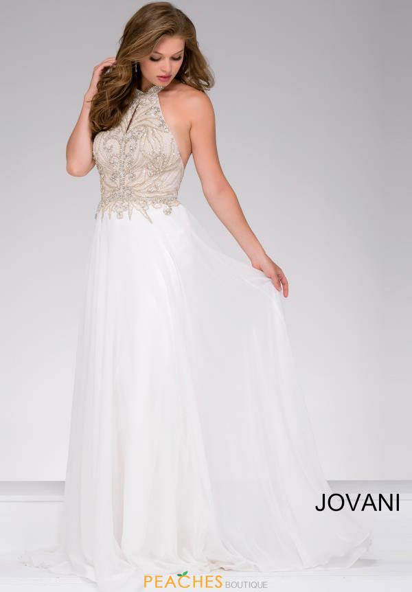 Jovani Full Figured Chiffon Dress 41594