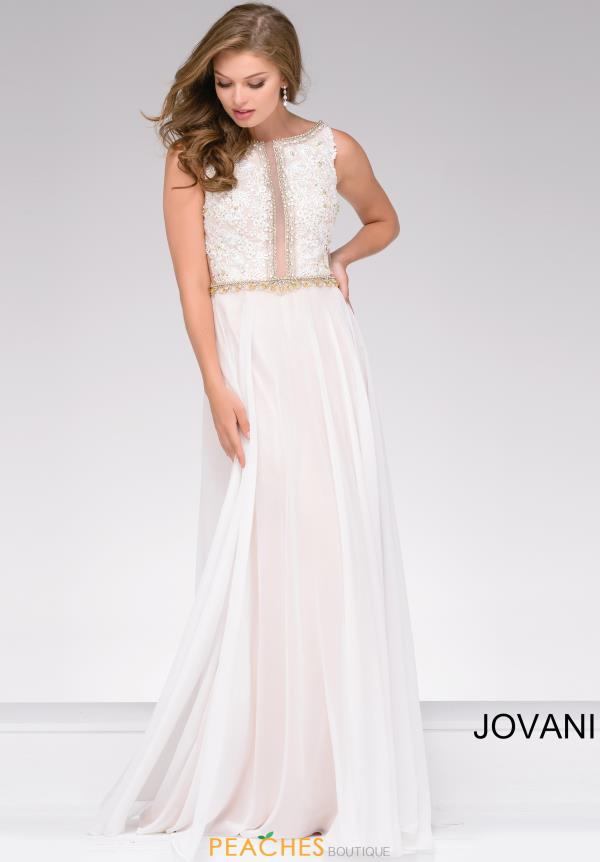 Jovani A Line Beaded Dress 41596