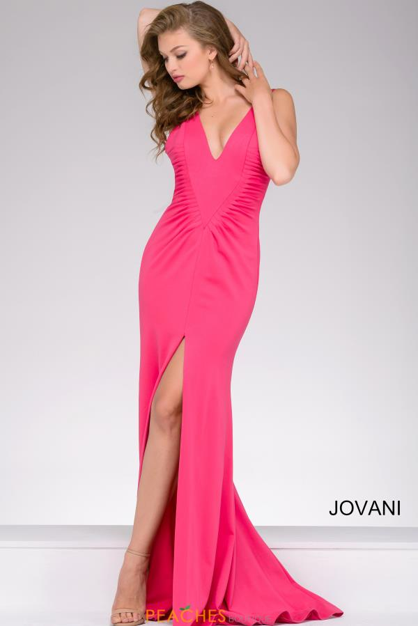 Jovani Fitted V Neck Dress 42038