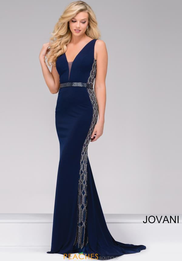 Jovani Fitted Beaded Dress 42321