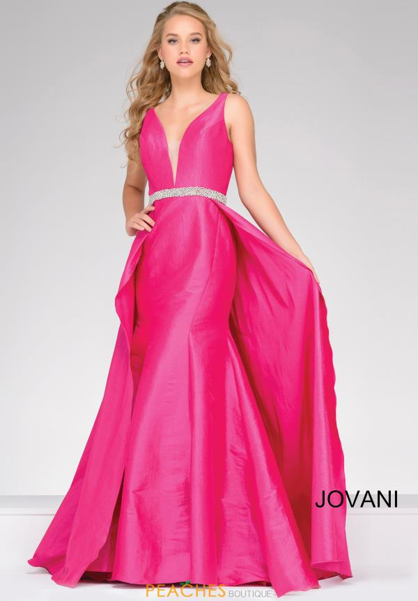 Jovani Full Figured Taffeta Dress 42401