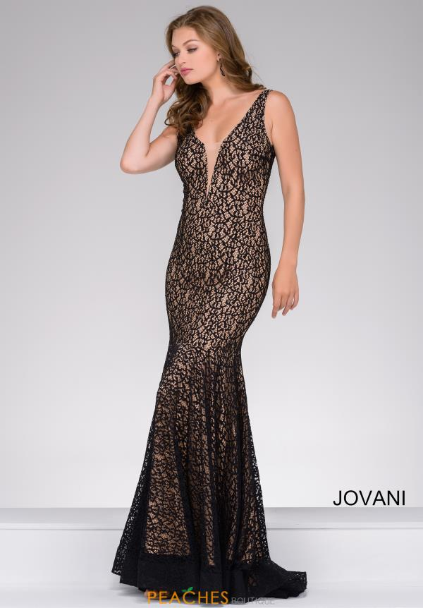 Jovani Fitted Lace Dress 42784