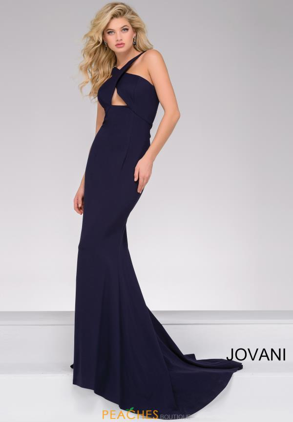 Jovani Fitted Neoprene Dress 43029