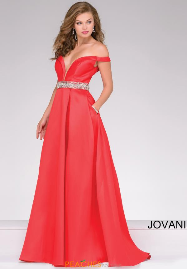 Jovani A Line Satin Dress 45135