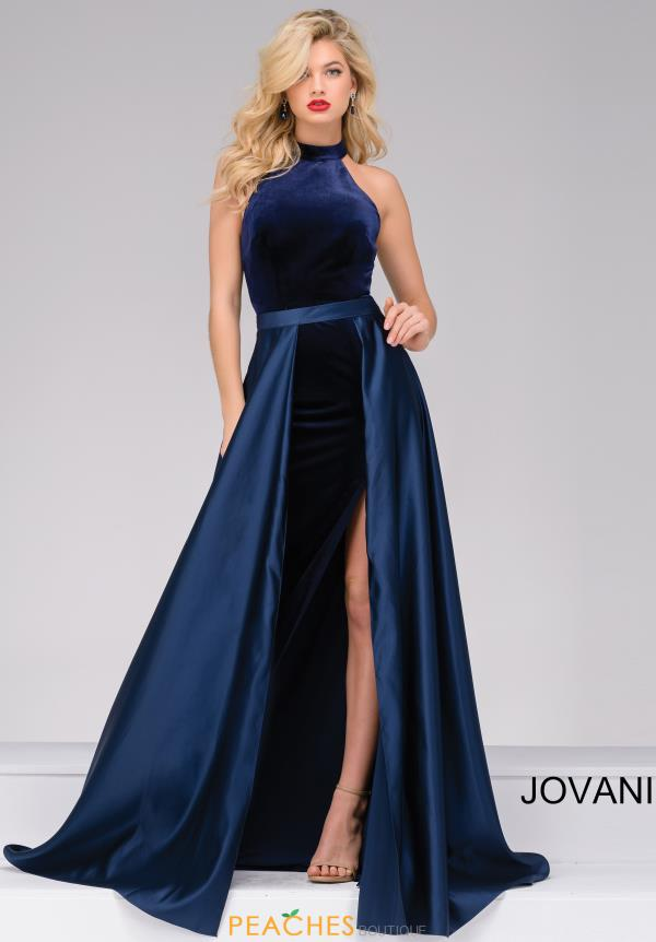 Jovani Fitted Velvet Dress 45182