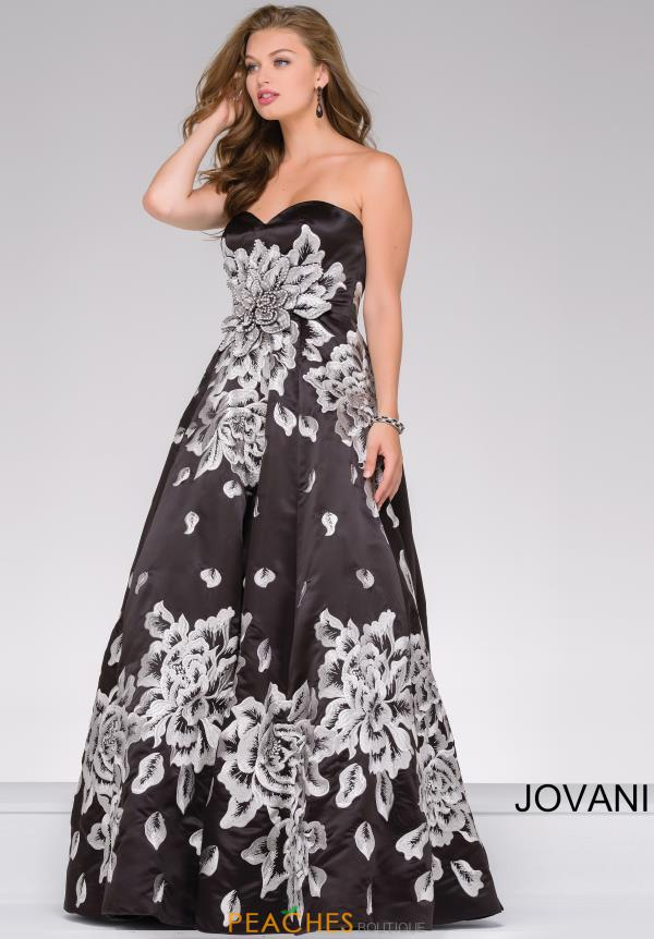 Jovani Full Figured Satin Dress 45523