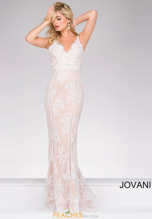 Jovani Fitted Lace Dress 45725