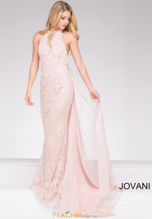 Jovani Fitted Lace Dress 45727