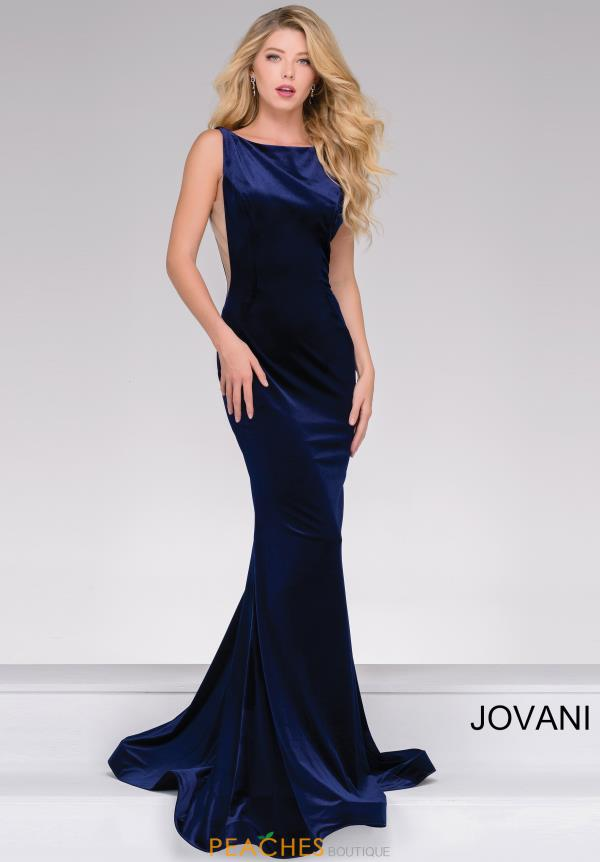 Jovani Long Velvet Dress 46060