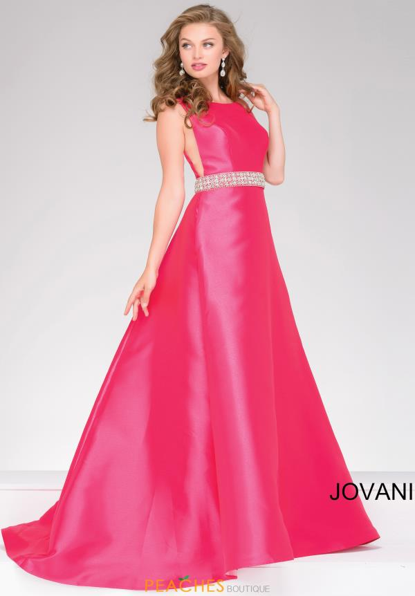 Jovani A Line Open Back Dress 46501