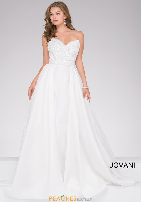 Jovani Full Figured Beaded Dress 46603
