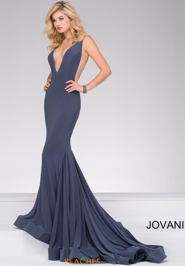 Jovani V Neck Jersey Dress 46756