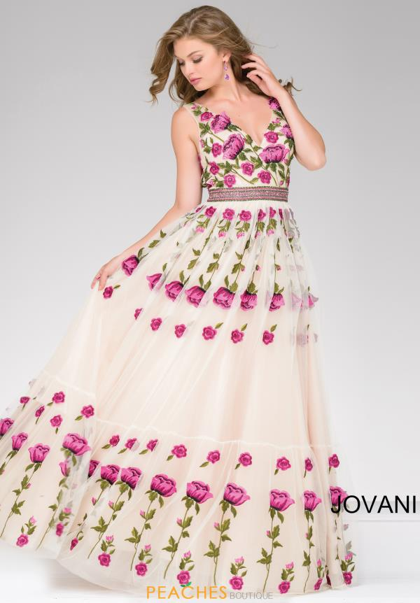 Jovani Full Figured Beaded Dress 47743