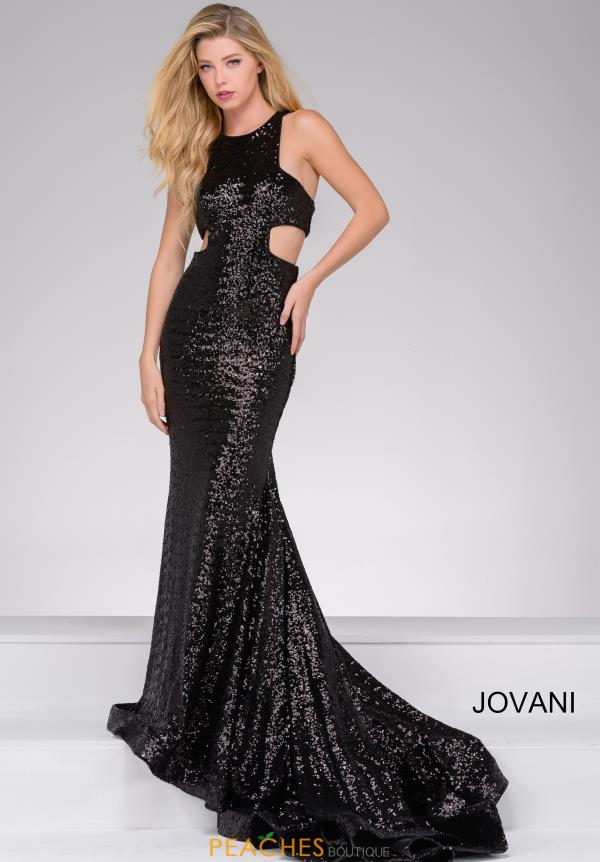 Jovani Fitted Sequins Dress 48334
