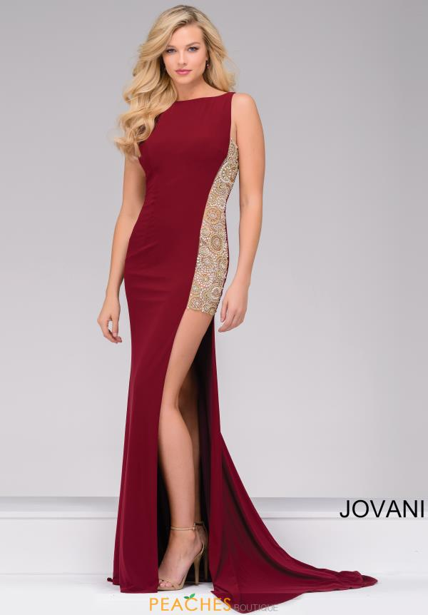 Jovani Fitted Beaded Dress 48852