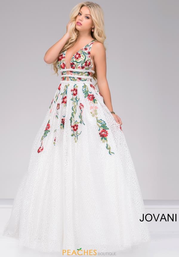 Jovani A Line Satin Dress 48891