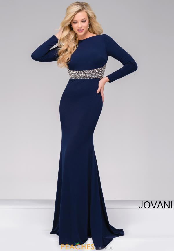 Jovani Fitted Open Back Dress 48979