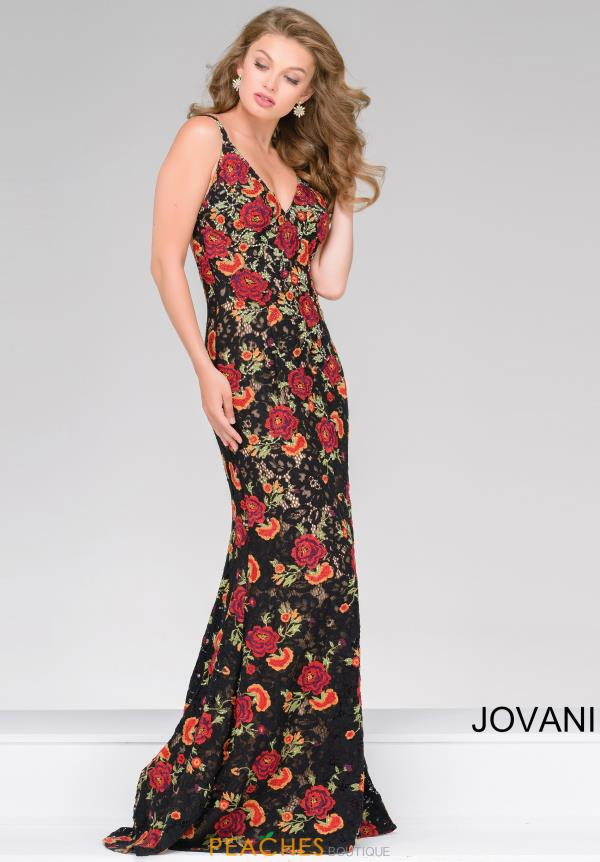 Jovani Fitted Open Back Dress 48985