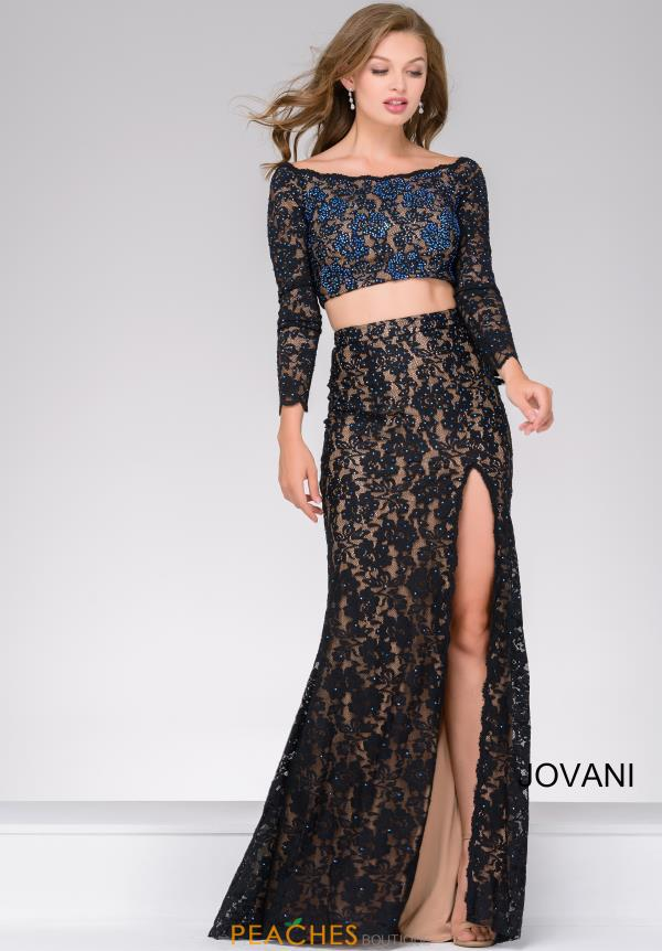 Jovani Two Piece Lace Dress 48989