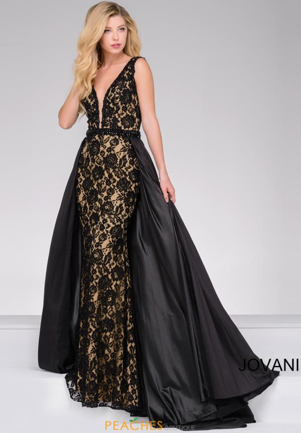 Jovani Fitted Black Lace Dress 49639