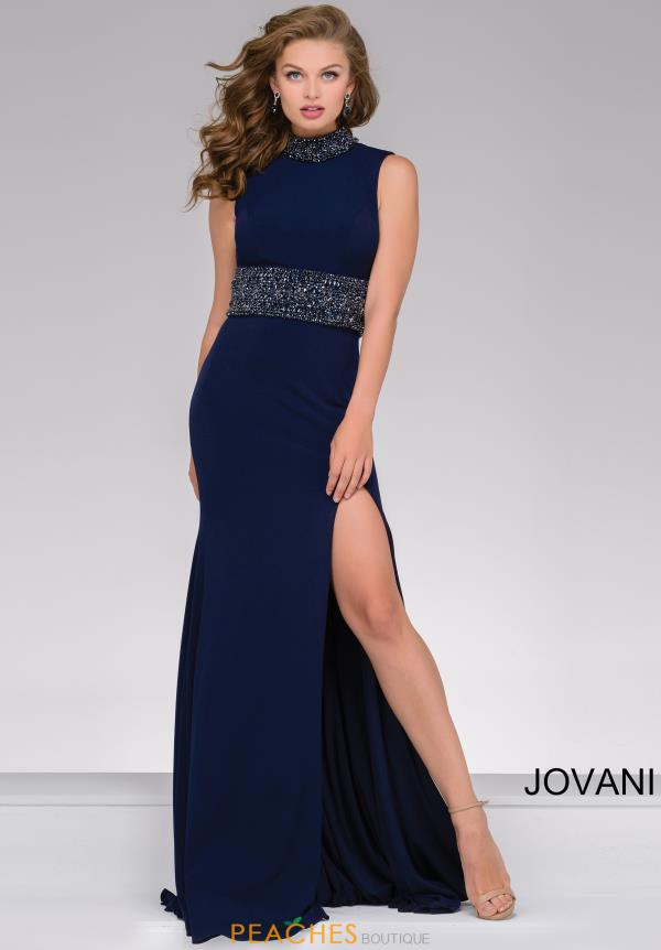 Jovani Fitted Formal Jersey Dress 49790