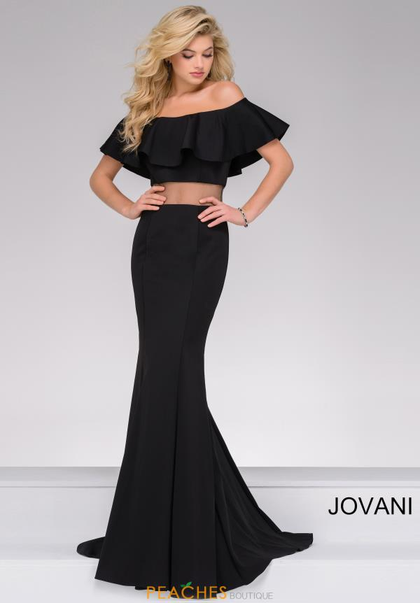 Cap Sleeved Two Piece Jovani Dress 49926