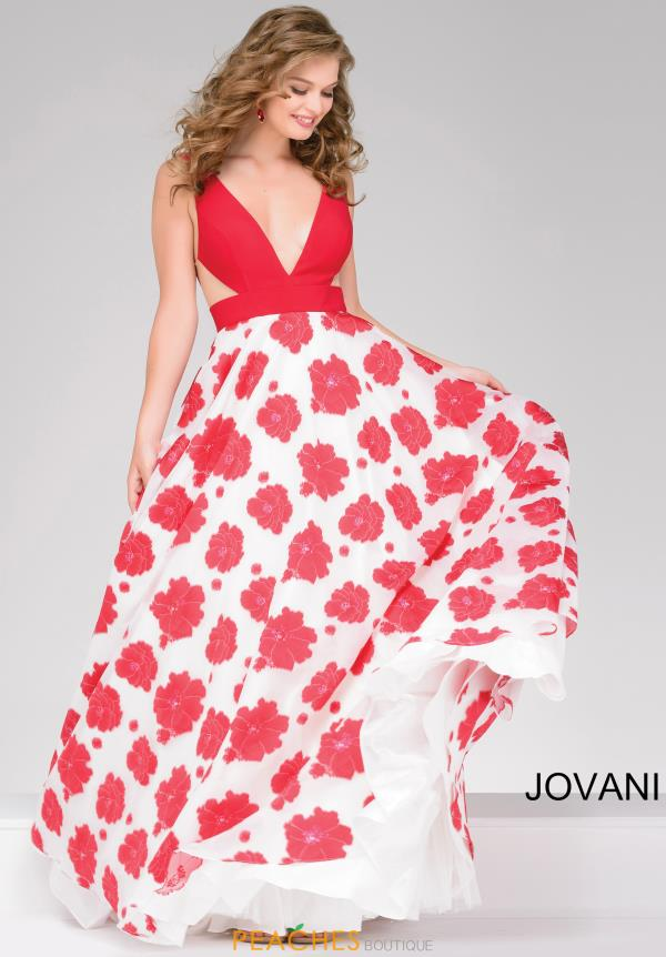 Jovani V- Neckline A Line Dress 49967