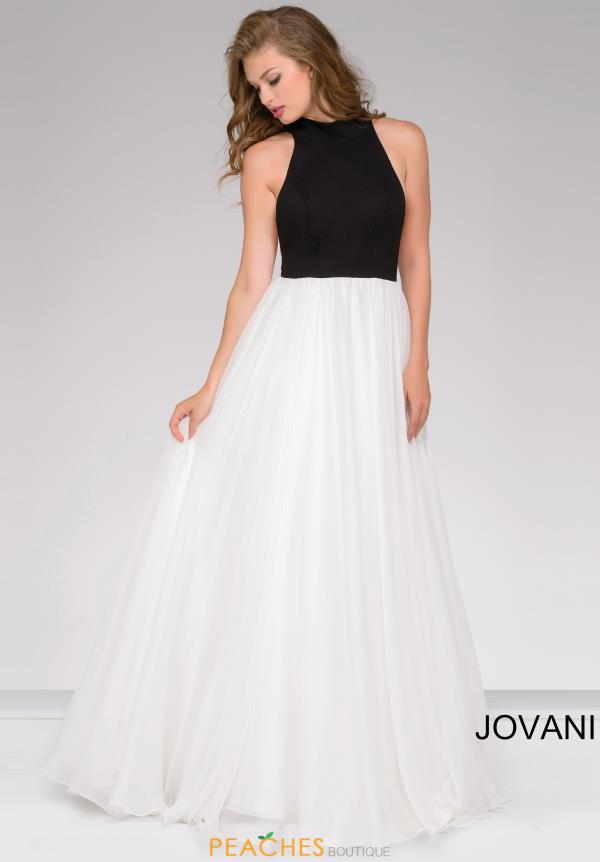 Jovani Long A Line Halter Dress 50881