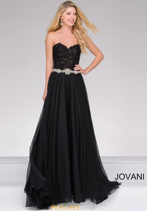 Strapless A Line Jovani Dress 74416