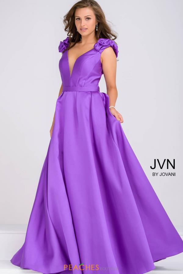 JVN by Jovani Cap Sleeved A Line Dress JVN88999