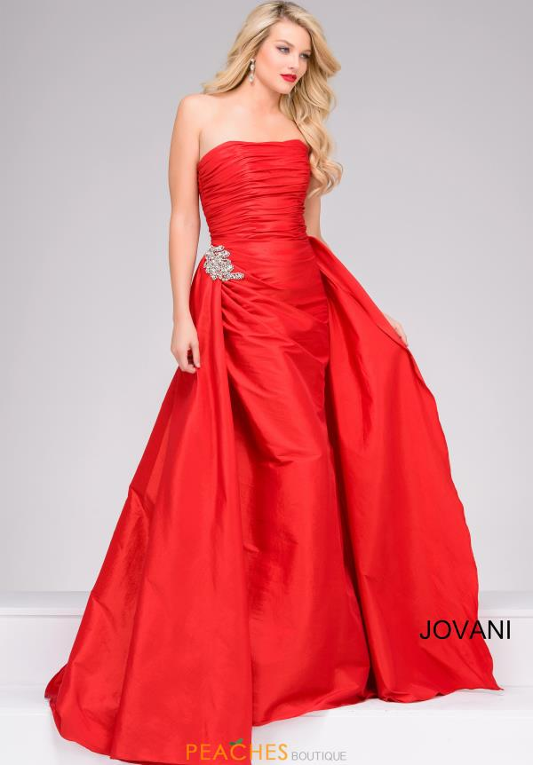 Jovani Strapless Fitted Dress 45079