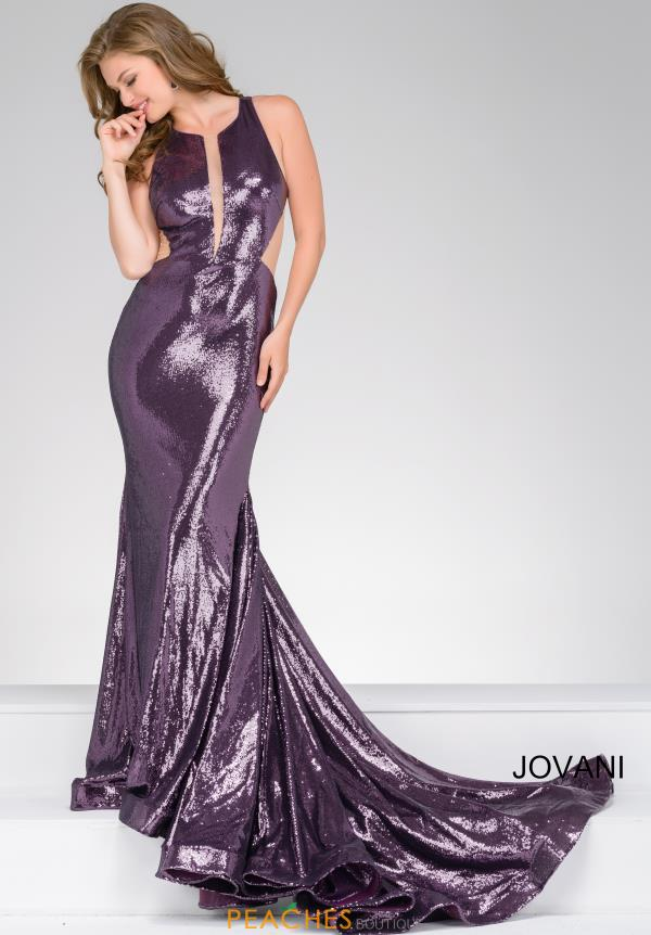 Jovani Long Sequin Dress 45399
