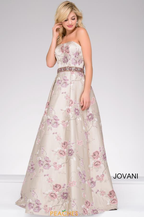 Jovani Beaded Full Figured Dress 45740