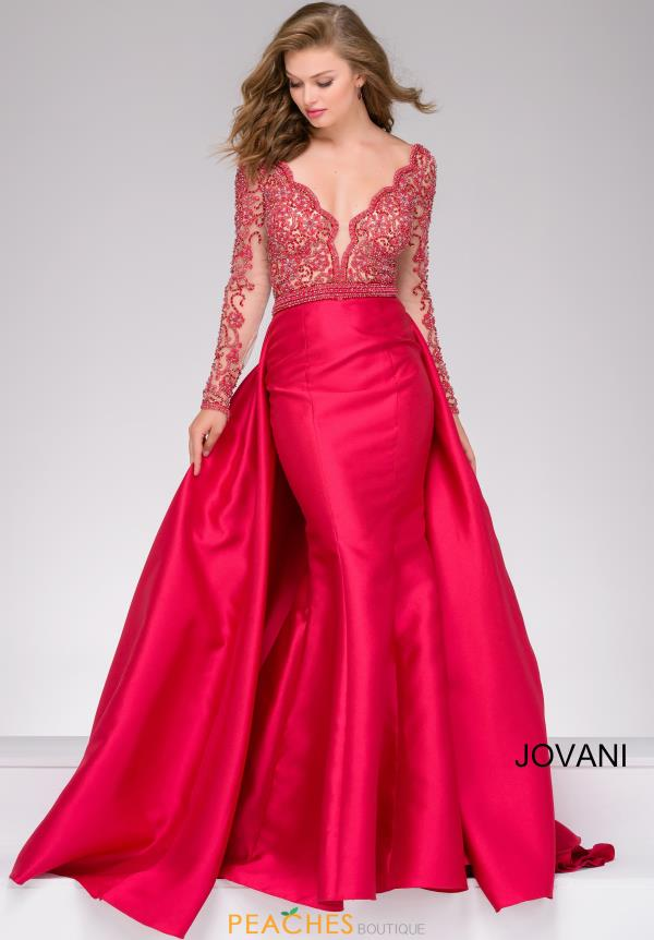 Jovani Long Sleeve Long Dress 46708