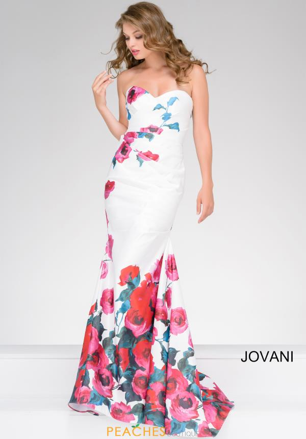 Jovani White Fitted Dress 47805