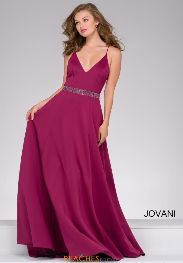Jovani V-Neck Long Dress 47868