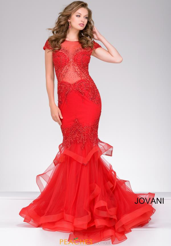 Jovani Beaded Long Dress 47927